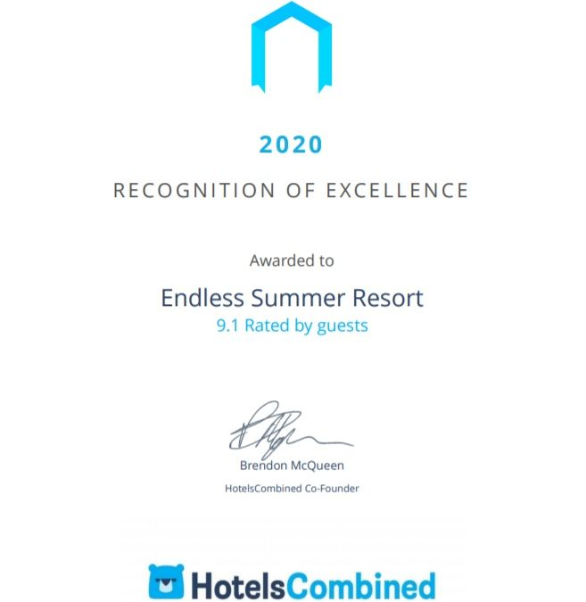 HotelsCombined recognizes Endless Summer Resort amongst the best hotels in Australia